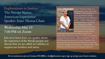 Explorations in Justice: The Navajo Native American Experience - Speaker Sister Chato