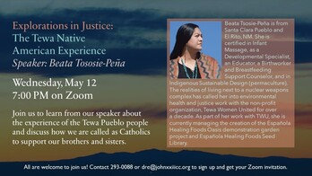 Explorations in Justice: The Tewa Native American Experience - Speaker Beata Tososie-Pena