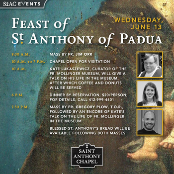 Feast Day of St. Anthony of Padua