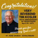 HAPPY 50TH ANNIVERSARY TO FATHER TIM!
