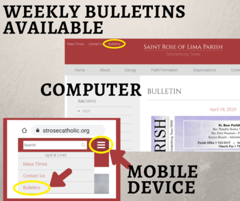 Weekly Bulletins Available