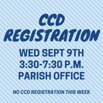 CCD REGISTRATION RESCHEDULED/REGISTRO CCD REPROGRAMADO