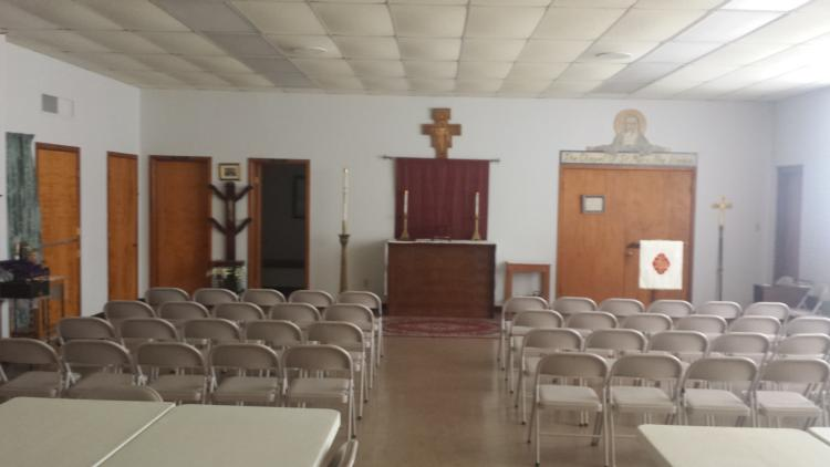 Worship in the Parish Hall