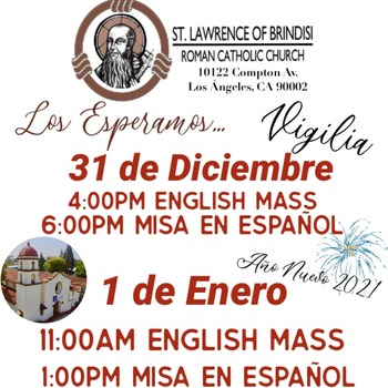 End of the Year and New Year Masses