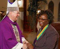 Donzella Hines and Bishop Farrell