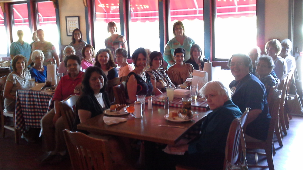 ACTS sisters unite! Aug 2015 dinner.
