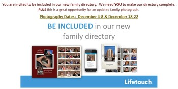 Photo Directory SIGN UP NOW