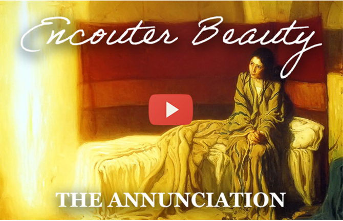 Enter into the mystery of the Annunciation by contemplating the painting by Henry Tanner.