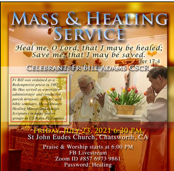 'In-Person/Virtual' Mass/Healing Service