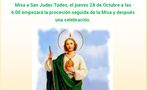 FEAST DAY OF ST. JUDE