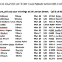 March Lottery Calendar Winners