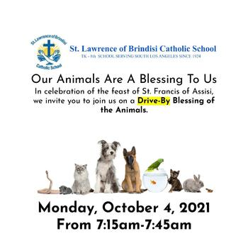 Drive-By Blessing of the Animals
