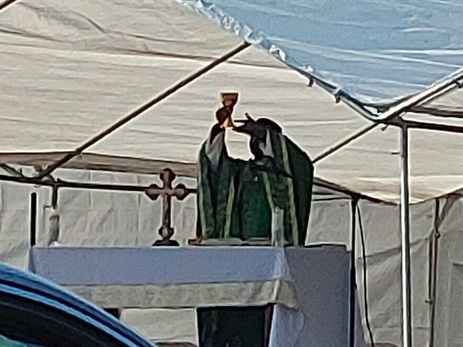 Outdoor Mass in the Parking Lot