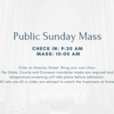 Outdoor Mass Sundays at 10:00 am beginning July 5th