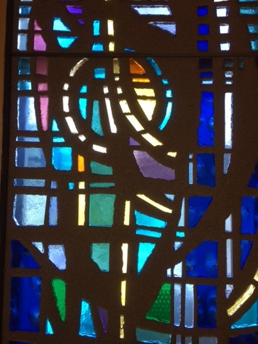 stained glass at St. Matthew in Largo, FL