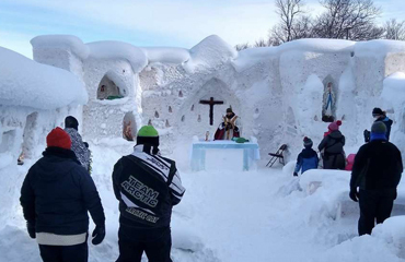 A Yooper Church Made of Snow