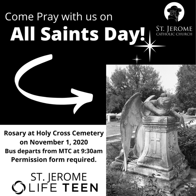 Pray a Rosary at Holy Cross Cemetery.