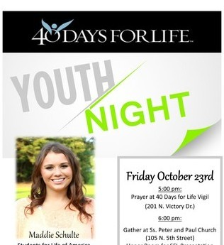 Youth Night at 40 Days for Life