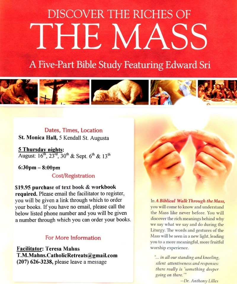 Discover the Riches of The Mass | St  Michael Catholic Parish