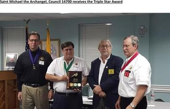 Council Recognized With Triple Star Award