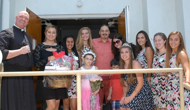 Honorary Fiesta Queen Natalie Martinez with her court