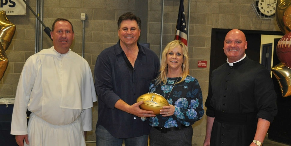 Tim Wrightman presents golden football