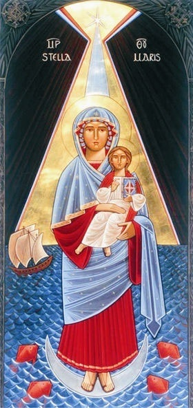 Madonna and child at sea