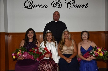 Fiesta Queen and her court 2018