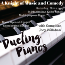 November 2, 2019 A Knight of Music and Comedy
