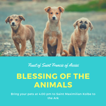 October 4, 2019 Blessing of the Animals
