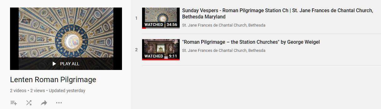 A YouTube link to the Sunday Vesper Services can be found by clicking on the link below