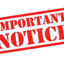 Important Notice for April 29