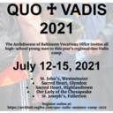 Quo Vadis camp offered at Sacred Heart!