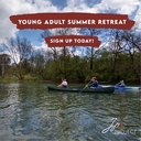 Young Adult outdoor hiking and camping retreat