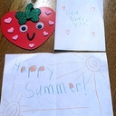 Making cards for the nursing home residents