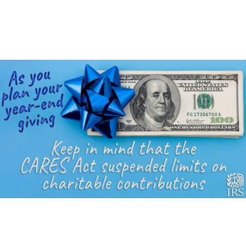 IRS Charitable Contribution Limits and CARES Act