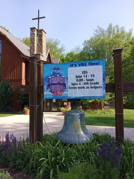 VBS June 14 – 18, ages 4 to 6th grade. Teens work as helpers!