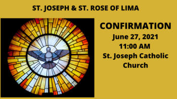 Confirmation for St. Joseph & St. Rose of Lima