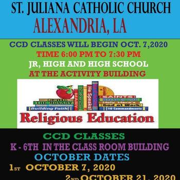 St Juliana CCD Classes Begin