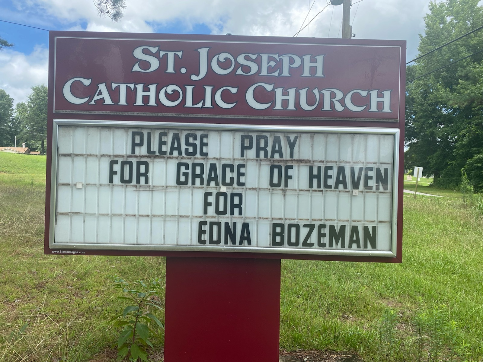 Thank you -- Our Parishioners for your prayers during this difficult time