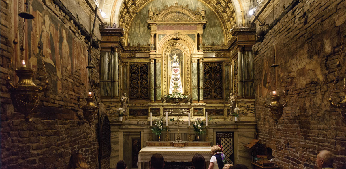 Visiting the Holy House of Mary in Italy