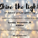 Shine The Light: An Advent Prayer Gathering