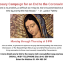 Rosary Campaign For an End to the Coronavirus