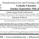 09/11/2020 - In preparation for Catholic Charities Sunday 2020...