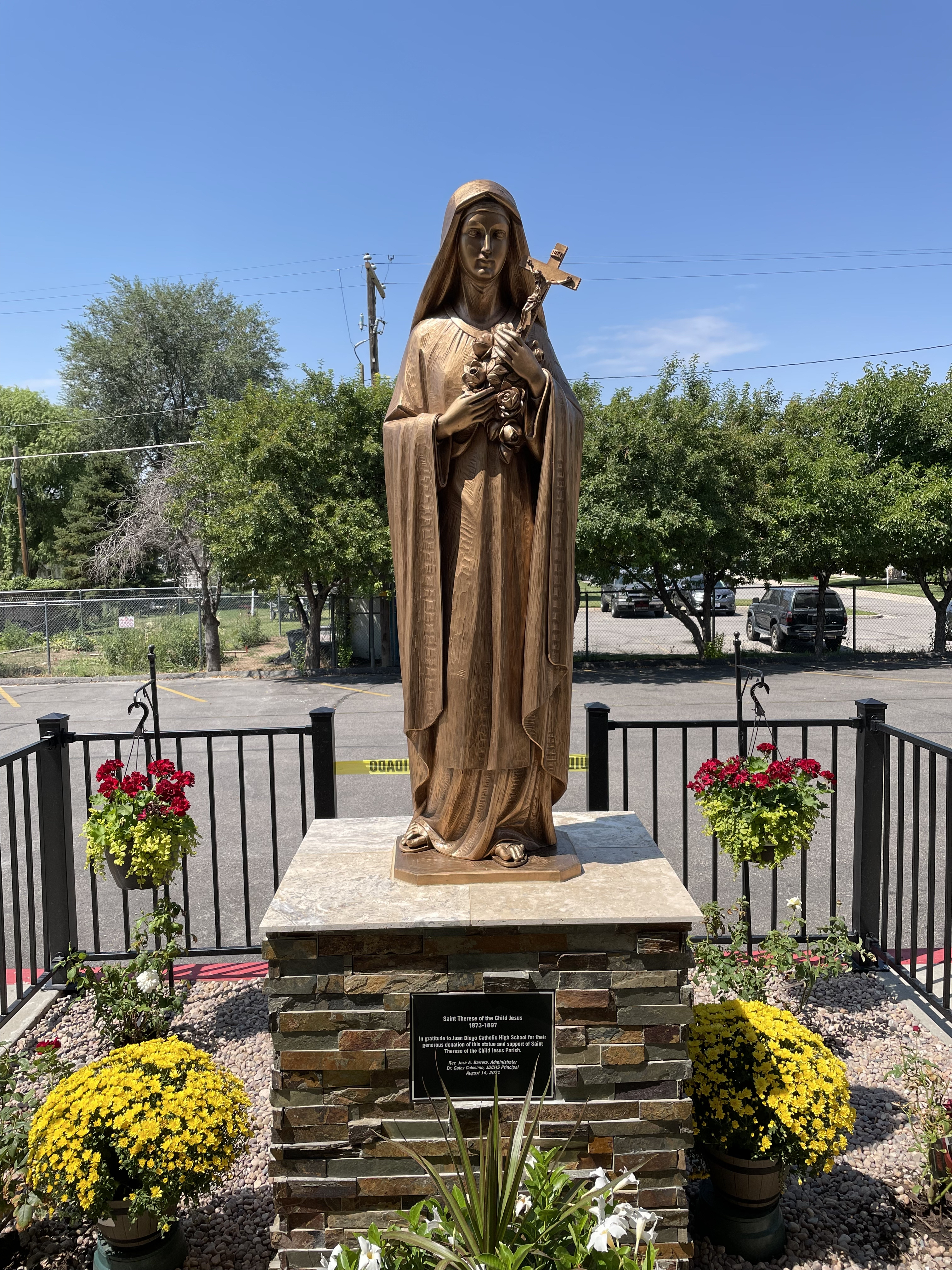 BLESSING OF NEW ST. THERESE STATUE