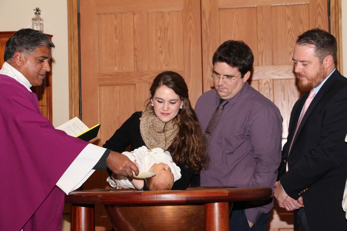 Baptisms are currently celebrated, in private, on Saturdays at 2:15 pm. Baptisms are scheduled on a first-come, first-serve basis. All requirements need to be completed to guarantee the date. Forms, sign-up for Baptism Prep Class, and additional information are available below. Please visit our parish calendar (below) to look at available Saturdays.Ÿ At least one parent must be a baptized Catholic. The non-Catholic parent must be willing to allow his/her child to be baptized in the Catholic Church and provide his/her written consent.Ÿ Turn in completed and signed forms to the parish office. Forms can be picked up at the parish office during office hours or downloaded below. They can be dropped off during office hours or anytime by placing them in the drop box found outside the entrance to the offices.Ÿ Provide a copy of your child's Birth Certificate.Ÿ Both parents and godparents are required to take the Baptism Prep Class (sign up below). If you have taken the class within two years, please provide a copy of the certificate/letter from the parish where you took it.Ÿ Godparents need to provide a letter of good standing with the Catholic Church from the parish where they are registered.Members of other parishes: please follow the above and provide us with at letter from their Priest delegating the Sacrament to Fr. George.