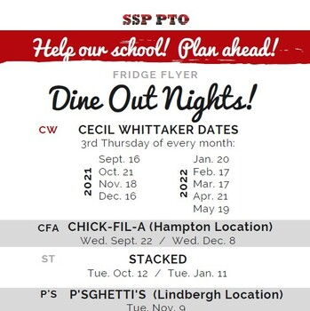 PTO Dine Arounds: What's Coming Up?