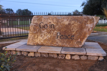 """Go In Peace!"" Monument"