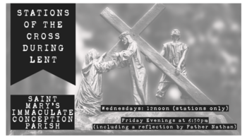 Noon Stations of the Cross at Saint Mary's
