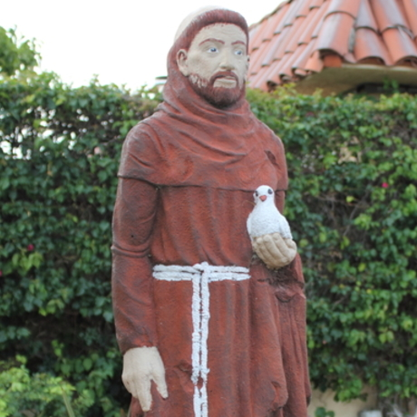 St. Francis in Courtyard